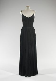 Dress, Evening  Madame Grès (Alix Barton)  (French, Paris 1903–1993 Var region)  Date: ca. 1968 Culture: French Medium: silk