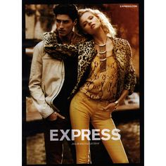 Express Ad Campaign Pre-Fall 2012 ❤ liked on Polyvore