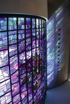 Temple Beth Zion  (805 Delaware Avenue Buffalo, NY 14209)    Breathtaking modern windows designed by Ben Shahn, adapted by Benoit Gilsoul and executed by Willet Studios.