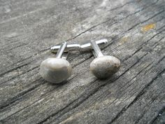 Petoskey Stone Cufflinks. Fossilized Coral. by TreeTownPaper, $26.00