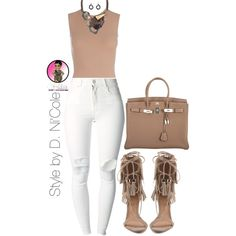 Untitled #2465 by stylebydnicole on Polyvore featuring polyvore fashion style (+) PEOPLE Maison Margiela Schutz Hermès