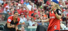 Olivia Holt, Josh Hutcherson, and More Took Part in the MLB Celebrity All Star Game this Weekend