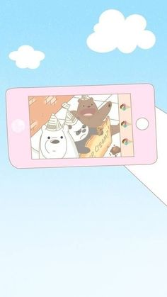 New Wall Paper Pastell Cartoon 20 Ideas We Bare Bears Wallpapers, Panda Wallpapers, Cute Cartoon Wallpapers, Ice Bear We Bare Bears, We Bear, Bear Wallpaper, Kawaii Wallpaper, Tsumtsum, Wallpaper Iphone Disney