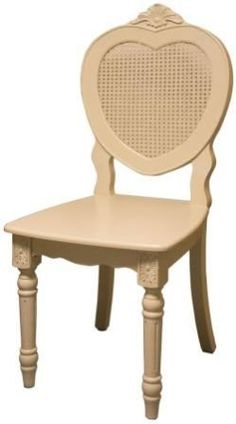 Off White Bergere French Style Heart Backed Dining Chair