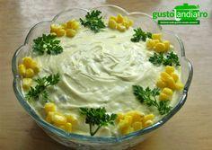 Salata de pui cu ciuperci Hummus, Pudding, Ethnic Recipes, Desserts, Food, Salads, Homemade Hummus, Deserts, Custard Pudding