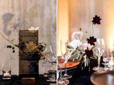La Tavola Fine Linen Rental: Velvet Onyx | Photography: Jenn Emerling, Event Design & Planning: Buzzworthy Events, Florals: Eothen, Venue: NWBLK San Francisco, Furniture Rentals: Pieces by Violet, Chair Rentals: Encore Events