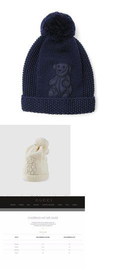 Hats 57884  Nwt New Gucci Baby Boys Navy Or Ivory Wool Knit Hat Beanie Teddy cc06af0b6e89