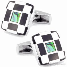 Checker Square Abalone Button Cufflinks are the perfect addition to any outfit.Set yourself apart with a pair of these elite and high quality cuff links you wont find them anywhere else!