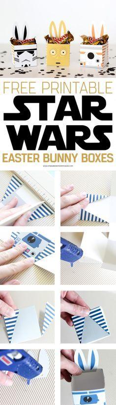 Cajas de Pascua de Star Wars imprimibles y recortables
