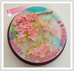 Puding Art, 3d Jelly Cake, Jelly Desserts, Beautiful Desserts, 10th Birthday, Jello, Food Art, Diy And Crafts, Cheesecake