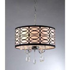 $122 Warehouse of Tiffany Olga 4-Light Chrome Crystal Ceiling Light-RL4825 at The Home Depot