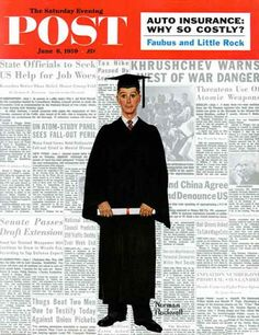 """Norman Rockwell """"The Graduate"""" (1959)"""