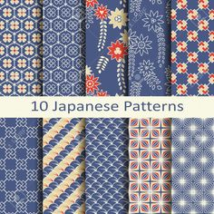 Find Set Ten Japanese Patterns stock images in HD and millions of other royalty-free stock photos, illustrations and vectors in the Shutterstock collection. Japanese Pen, Japanese Flowers, Japanese Fabric, Textile Pattern Design, Textile Patterns, Flower Patterns, Wood Patterns, Print Patterns, Japanese Patterns