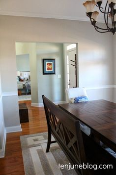 ! I chose this color, which is Sherwin Williams' Agreeable Gray, because it's a nice, cool neutral gray that has a tiny hint of a neutral kh...