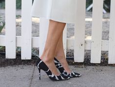 """printed pumps   get the look from """"Modern Ladylike""""   Front Roe, a fashion blog by Louise Roe"""