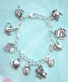 tea set charm bracelet - Jillicious charms and accessories - 1