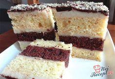 I když vypadá tento koláček složitě, je zcela jednoduchý. Krém s chutí vanilky a vrch ozdobený čokoládou. Krispie Treats, Rice Krispies, Vanilla Cake, Tiramisu, Ethnic Recipes, Food, Essen, Meals, Tiramisu Cake