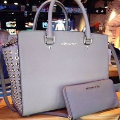 White Michael Kors Handbags and Wallets