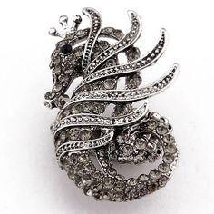 New Arrival Retro fashion Korean Alloy Diamond Dragon Ring