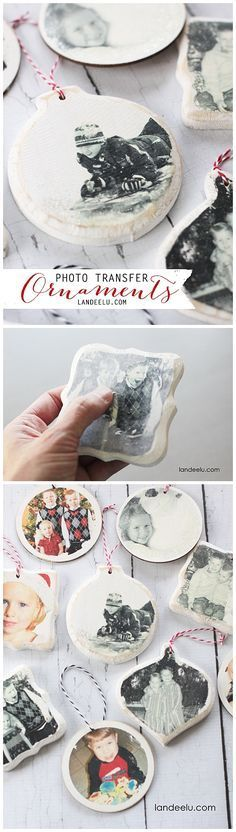 DIY Photo Transfer Christmas Ornaments Tutorial | Landeelu - Easy and Cheap DIY Christmas Tree Ornaments (Best Christmas Traditions)