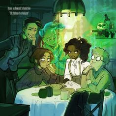 """My secret santa for . Based on their fanfiction shades of ectoplasm"""" (well its sequel actually) which can be found on It's a funny one, you should read it! Jonathan Stroud, Lockwood And Co, Fictional World, Friend Birthday Gifts, Best Series, Cute Characters, Secret Santa, White Elephant Gifts, Book Worms"""