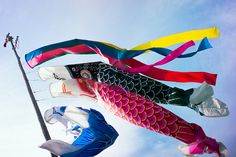 Koinobori | Japan. I have a slightly battered one that I made years ago hanging off of my wardrobe.