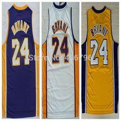 Cheap #24 KB Kobe Bryant amarillo / púrpura / blanco Jerseys camiseta de baloncesto, Compro Calidad jerseys del baloncesto directamente de los surtidores de China:        #24 KB Kobe Bryant amarillo/púrpura/blanco Baloncesto Jersey                 Calidad superior de la fábrica direc