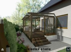 Backyard Plan, Backyard Patio Designs, Modern Backyard, Gazebo Pergola, Deck With Pergola, Pergola Plans, Small House Layout, Small Modern House Plans, Modern Pergola Designs