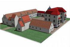 Grunewald Hunting Lodge in Berlin Free Building Paper Model Download