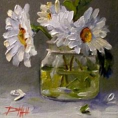 Smiling Daisies, painting by artist Delilah Smith