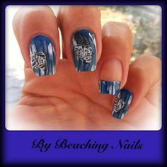 Beachy theme nails  white washed fence  flip flops  Bundle monster  China Glaze  Nail art