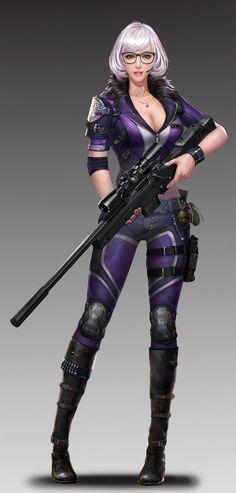 ArtStation - sniper, Amber Walker