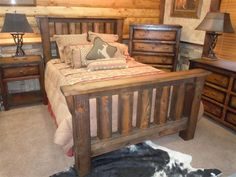 Solid Barnwood Bedroom Furniture- Rugged Canyon Collection