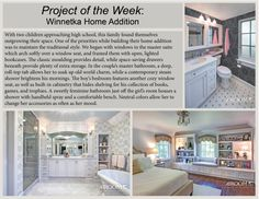 #ProjectOfTheWeek Winnetka Home Addition  - With two children approaching high school, this family found themselves outgrowing their space. One of the priorities while building their home addition was to maintain the traditional style.