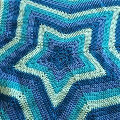 patternpiper crochet blue star ripple