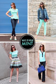 Ways to Wear Mint on What I Wore