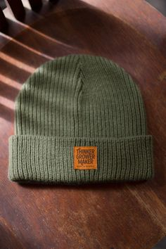 Thinker Grower Maker ribbed beanie