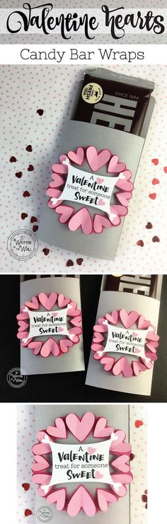 A Valentine Treat for Someone Sweet-Hershey Candy Bar Wrappers for Valentine's Day. It's Written on the Wall: