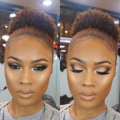 Brillant dark skin makeup -Estilo de maquillaje para piel oscura