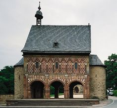 Lorsch Abbey gatehouse.  Burial place of Emma of Alemannia (d. c. 785) and husband Gerold of Vinzgau (d. 795), Mike's 36th great grandparents.