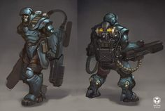 Game Character Design, Character Concept, Character Art, Armor Concept, Weapon Concept Art, Earth Defense Force, Defence Force, Mutant Chronicles, Dragons