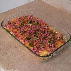 This recipe is the mother of all Breakfast Casserole recipes!  It is LOADED with ham, eggs, cheese, hash browns and all other kinds of goodies.  This savory casserole can be served for breakfast and is hearty enough for dinner too.  Plus, you ca