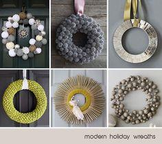 Modern Holiday Wreaths