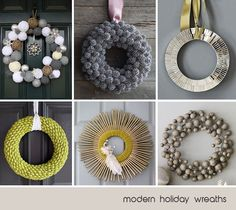 Modern Holiday Wreaths