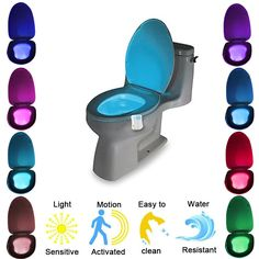 Led colorful motion sensor toilet nightlight dream led light led colorful motion sensor toilet nightlight dream led light sensor toilet pinterest toilet and products mozeypictures Images