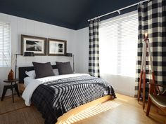 Paint colors that match this Apartment Therapy photo: SW 7674 Peppercorn, SW 6069 French Roast, SW 6258 Tricorn Black, SW 7066 Gray Matters, SW 7007 Ceiling Bright White