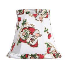 Santa Clause Silk Bell Clip Chandelier Shade