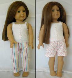 "pattern, free : 18"" doll jammies/undergarments"