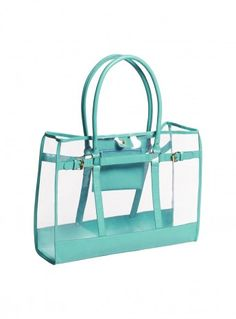 Transparent Clear Neon Light Bright jelly Boston Beach Bag Handbag ...