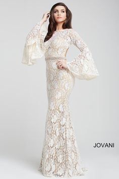 Check out the deal on Jovani 35160 Bell Sleeve Prom Dress at French Novelty